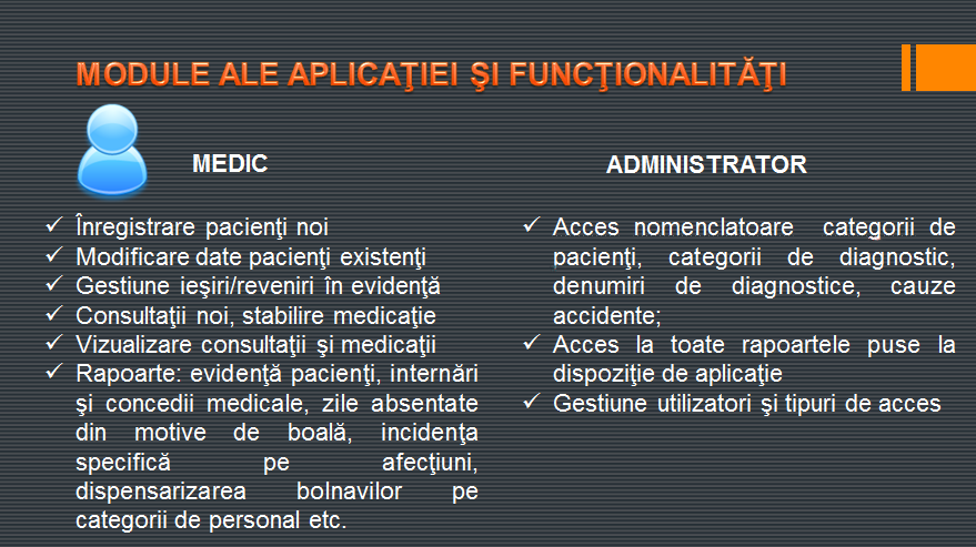 Software de gestiune activitate cabinet medical